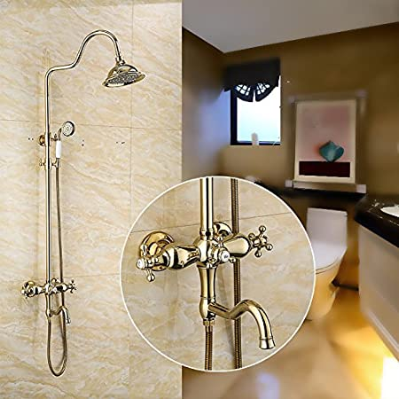 Bijjaladeva Antique baño ducha mezcladora de lluvia toca ducha de ...