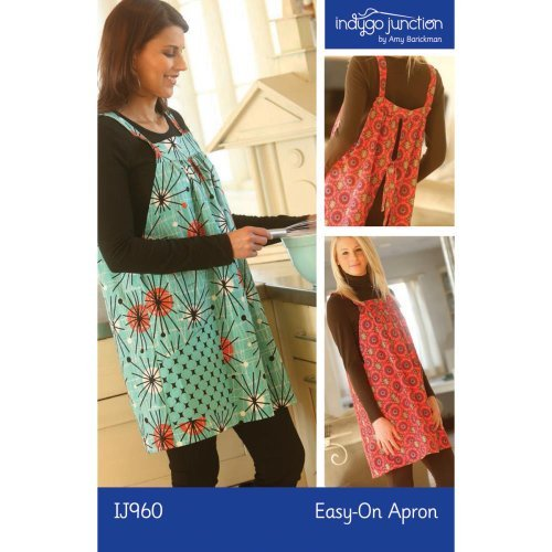 Indygo Junction Designs INJ960 Easy On Apron Ptrn, None (Apron Easy For Patterns Sewing)