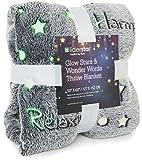 Glow in The Dark Throw Blanket ,Super Soft Fuzzy