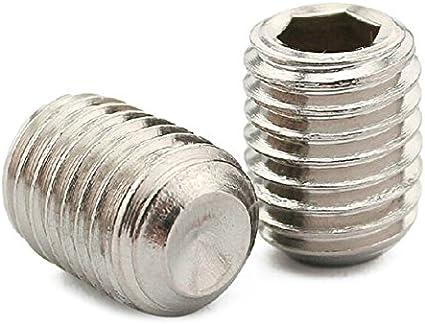 SODIAL 50unids M2.5 x 3mm acero inoxidable hexagonal configurar Grub tornillos sin cabeza de taza de punto
