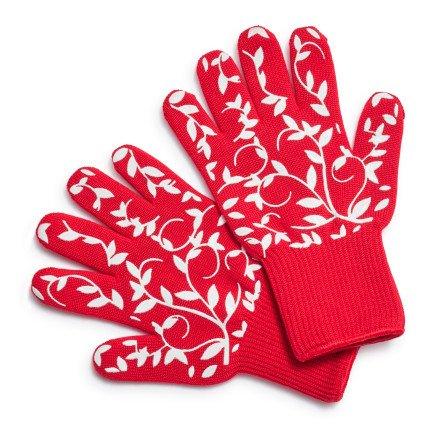 Sur La Table Floral Vine Oven Gloves 404685-YELLOW , Set of 2, Yellow (Oven Sur La Table)