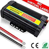 TINTON LIFE Peak 4000W Heavy Duty Modified Sine Wave 12V DC To 110V AC Power Inverter