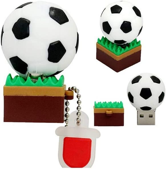 Size : 32G Computers Accessories Creative Grass Football Memory Stick USB2.0 4G//8G//16GB//32G//64G//128G Portable Hanging Chain Thumb Drive-Data Storage 10-11