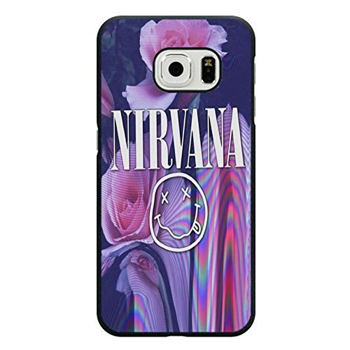 Case Shell Beautiful Flowers Grunge Rock Band Nirvana Phone Case Cover for Samsung Galaxy S6 Edge Nirvana Unique Design