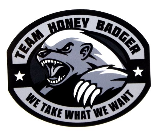 Team Honey Badger Vinyl Decal (SWAT (Black)) (Decals Swat)