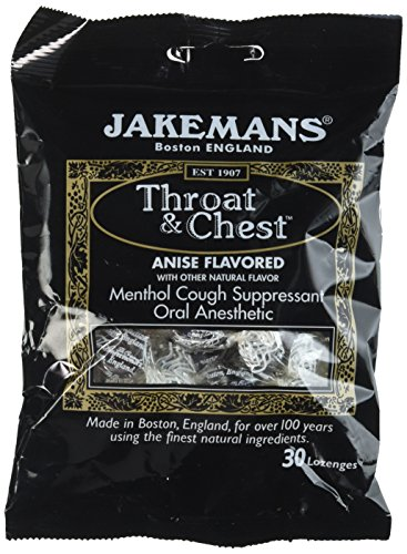 Jakeman's Throat and Chest Anise Flavored Lozenges 100g (Pack of 4)