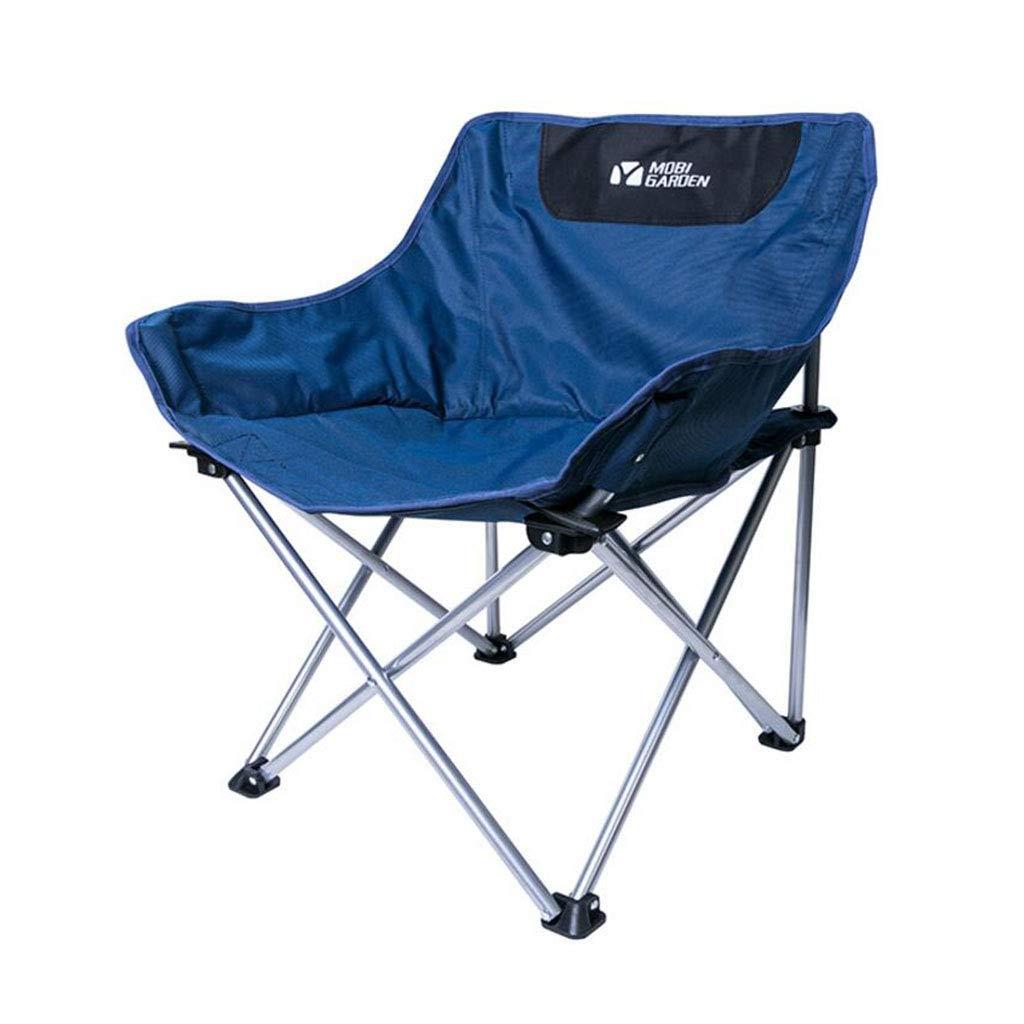 Xy Hocker Faltender Kampierender Stuhl-im Freienklappstuhl-tragbarer Einfacher Fischen-Sitz (Farbe   Blau)