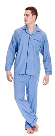competitive price 26794 fbec1 Mens Easy Care Polycotton Classic Long Pyjama Lounge Wear