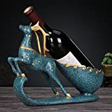 Wine Bottle Holder Statue In Decorative GSJJ-004 Tabletop Wine Racks Elk Decor Sculptures & Tabletop Wine Rack Stands By Home 'N Gifts,B,30.51022CM(12″3″8″)