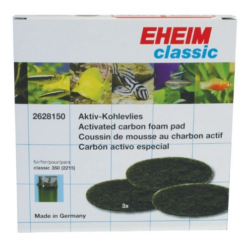 EHEIM Activated Carbon Pad for Classic External Filter 2628150 (3 Pieces) by Eheim