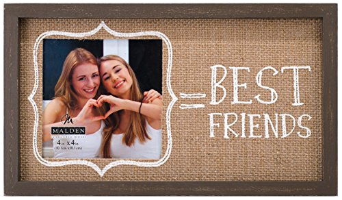 malden international designs burlap wall sentiments silkscreened best friends picture frame