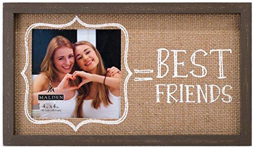 malden international designs burlap wall sentiments silkscreened best friends picture frame