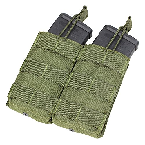 CONDOR Double M4/M16 Open Top Mag Pouch, Olive Drab by CONDOR