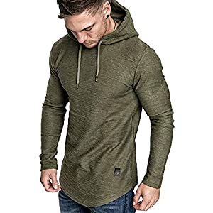 Fashion Shopping lexiart Mens Fashion Athletic Hoodies Sport Sweatshirt Solid Color Fleece Pullover