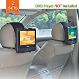 WANPOOL Car Headrest Mount Holder Most 7 – 10 inch Swivel Screen Style Portable DVD Players - 2 Pieces (DVD Player is not Included)