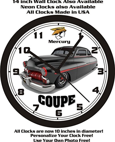 Mercury 1950 Coupe (1950 MERCURY COUPE WALL CLOCK-FREE USA SHIP!)