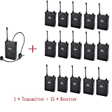 FLZXJY Takstar Wireless tour guide system,voice transmission system for meeting,visit,training, 1 Transmitter 15 receiver
