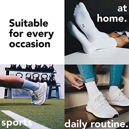 – Femmes Couleurs Pointure Blanc Et Hautes Tennis Socks Coton À Hautes lot Sport Chaussettes Snocks 35 Crew Hommes De Noir 50 Gris 4 pTq0OYO