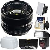 Fujifilm 35mm f/1.4 XF R Lens with Flash + Soft Box + Diffuser + 3 UV/CPL/ND8 Filters + Kit for X-A2, X-E2, X-E2s, X-M1, X-T1, X-T10, X-Pro2 Cameras