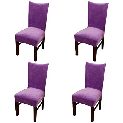 Amazon Homiest 4 Pcs Velvet Spandex Stretch Dining Room Chair