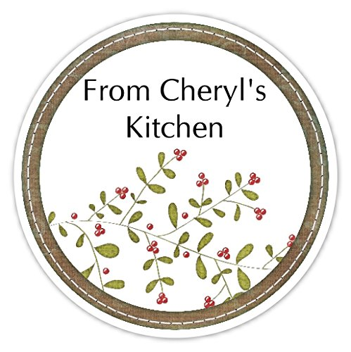 amazon com 36 kitchen labels holly sprig from my kitchen stickers