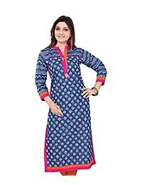 Indian | Tunic | Tops | Women's | Long Printed | Cotton Kurti | Kurta | Blouse