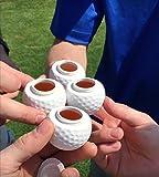 Golf Shots - Golf Ball Shaped Shot Glasses - Sleeve of 3
