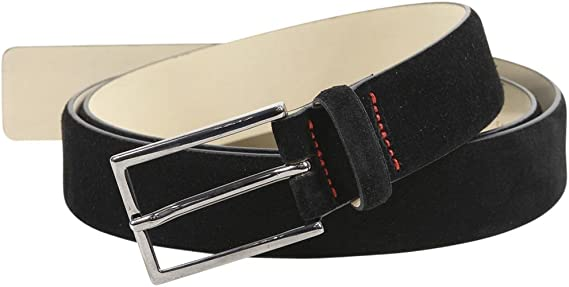 Hugo Boss Men/'s Gavrilo Signature Stitching Genuine Suede Belt