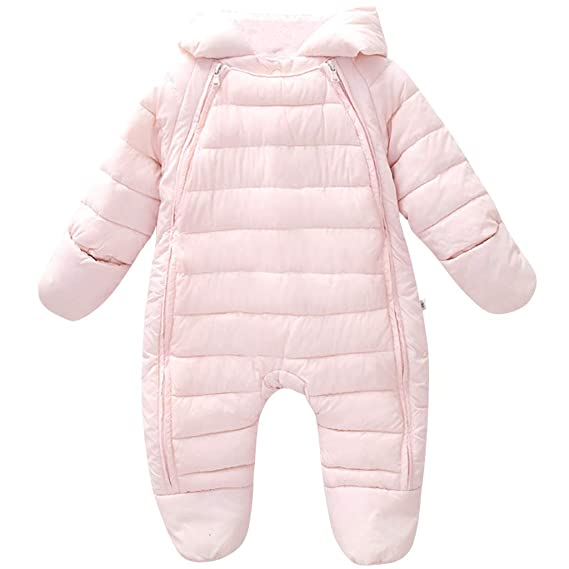 73bc76e7d Newborn Baby Romper Hooded Winter - Infant Warm Onesies Jumpsuit Toddler  Cotton Coat Long Sleeve Coverall Kids Outfit Boys Girls Costume Crawling  Suit ...