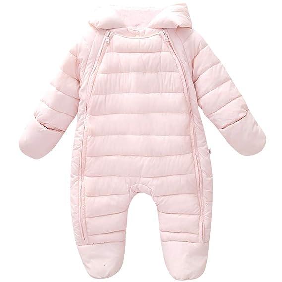 7a64bde3cbabd Newborn Baby Romper Hooded Winter - Infant Warm Onesies Jumpsuit ...