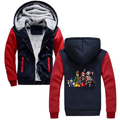 Con E Besthoo Sport Felpa Velluto Inverno Kingdom Hearts Pullover Sweater Cardigan Warm Plus Uomo In Autunno Zipper Giacca Da Coat Classic Redblue05 Cappuccio rSSOw