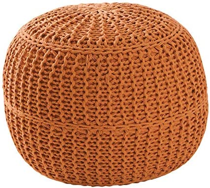 Reviewed: BrylaneHome Hand-Knitted Ottoman Pouf