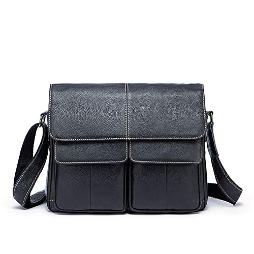 Men's Strap Black Satchel Retro For Black Briefcase Messenger And Crossbody Bag Vintage color Shoulder Adjustable Classic Jxth Day School Leather Work AStaRxa