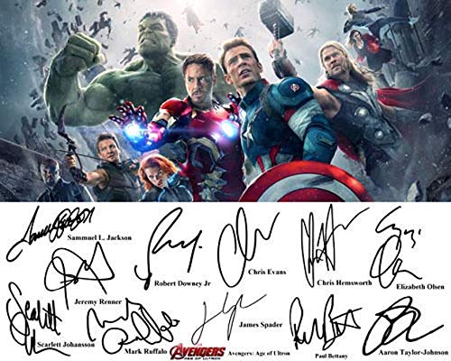 AVENGERS SIGNED 12X Signed REPRINT 8x10 inch photograph Reprinted from Original