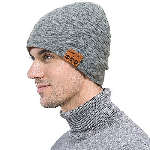surfin Bluetooth Beanie Rechargeable Unisex Wireless Beanie Hat with Control Panel Christmas Tech gifts Winter hat for Women Men,Built-in (Halloween Rumba Songs)