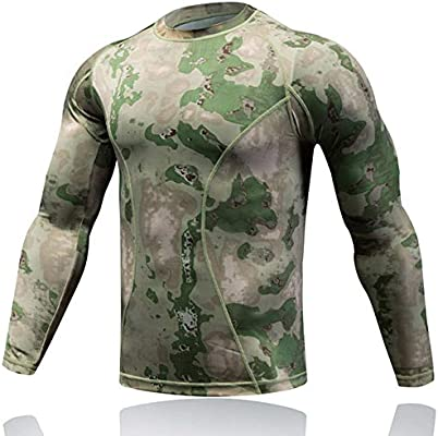 Men/'s Military Tactical Combat T-Shirt Army Quick Dry Hiking Moisture Camo Tops