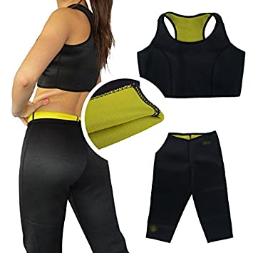 a47d01f3e0 Buy HOT SLIM BODY SHAPER TOP +PANTS - MAKE YOU SWEAT BURN YOUR FAT SIZE  MEDIUM(XL) Online at Low Prices in India - Amazon.in