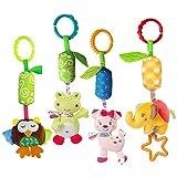 KateDy 4 Packs Baby Rattle Toy Kids Stroller Hanging Bell Puppet Handbells Ba