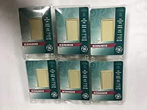 New GE Dimmer Touch Switch Wall Switch Plate 6 Pc light