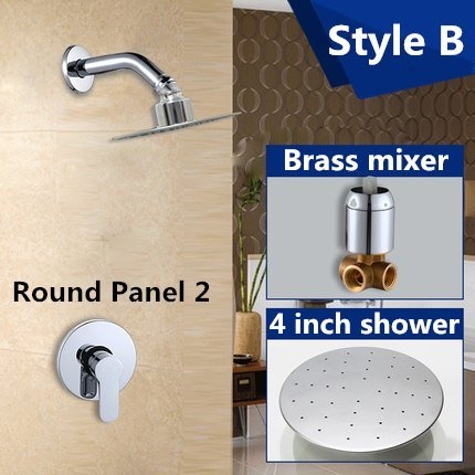 Kitchen faucet Bathroom faucet Luxury bathroom showers in wall 4 inch stainless steel shower head set brass chrome rain shower set faucet,Green by Tyrants Fauceting (Image #4)
