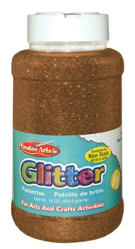 Creative Arts by Charles Leonard Glitter, 16 Ounce Bottle, Copper (41180)
