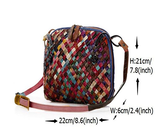 8 2 Bags 2 LXopr bag Leather Ms inch 6 8 4 Crossbody Genuine Shoulder backpack vpp84aqx