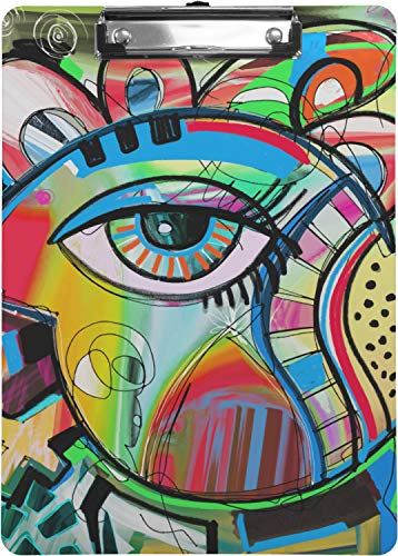Amazon.com: Abstracto ojo pintura portapapeles, Multicolor ...