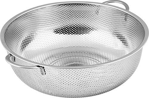 Utopia Kitchen Stainless Steel Colander - Micro-Perforated Strainer - Strain Pasta, Noodles, Orzo, Vegetables, Fruits and -