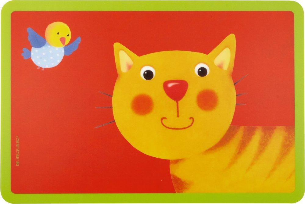 シュピーゲルブルクメラミン子供用食器プレート/カップSassy Rattle Bandシングルプレースマット(猫)   B079VDYD6R