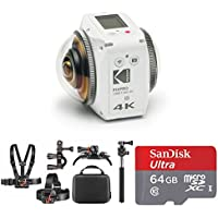 KODAK PIXPRO ORBIT360 4K 360° VR Camera Satellite Pack 64GB Bundle + Bonus Adventure Accessory Kit