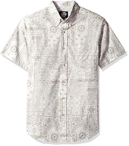 Reyn Spooner Men's Tailored Fit Hawaiian Shirt, Aloha Bandana - White M