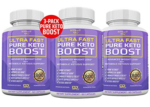 (3-Pack) Ultra Fast Pure Keto Boost - 2400mg Premium Keto Pills for Keto Diet for Energy & Focus Keto Capsules - Keto BHB Supplement for Men and Women - 90 Day Supply