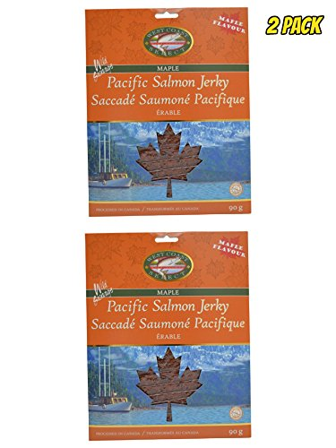 Wild Caught Canadian Smoked Salmon Jerky 2 Pack Seafood Fish Jerky From Pacific British Colmubia (Maple)