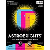 Astrobrights Filler Paper, 8 x 10-1/2 Inches, 20 lb, Assorted Colors, 100 Sheets